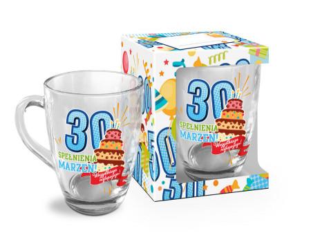 URODZINOWY LUZZZ - kubek szklany Baryłka 350ml - 30