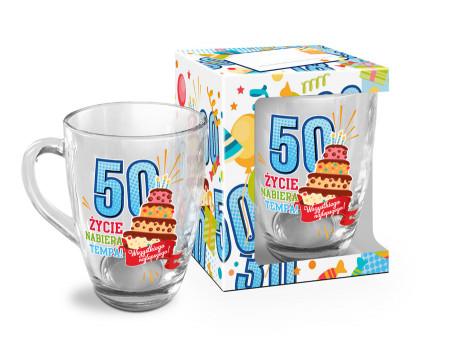 URODZINOWY LUZZZ - kubek szklany Baryłka 350ml - 50
