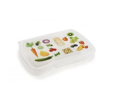 FRESH LUNCH - pojemnik na lunch z przegródkami 0,7L + 0,3L (kpl. 3 szt.)