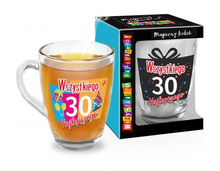 MAGICZNY URODZINOWY - kubek Baryłka szklana 350ml - 30
