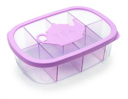 AROMA TEA - pojemnik do przechowywania herbaty 3L różowy