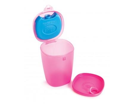 ENERGY - pojemnik na owoce i jogurt z wkładem chłodzącym 0,5L różowy