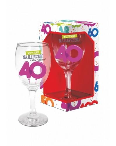 BALONIKI - kieliszek do wina 220ml - 40 urodziny
