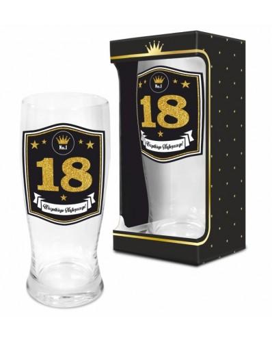 GOLD - szklanka do piwa 500ml - 18 urodziny