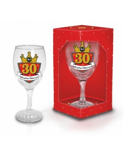 GOLD - kieliszek do wina 220ml - 30 urodziny