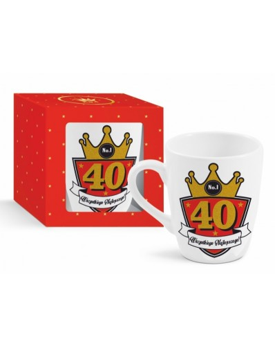 GOLD - kubek Baryłka 300ml - 40 urodziny