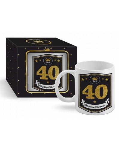 GOLD - kubek Boss 300ml - 40 urodziny