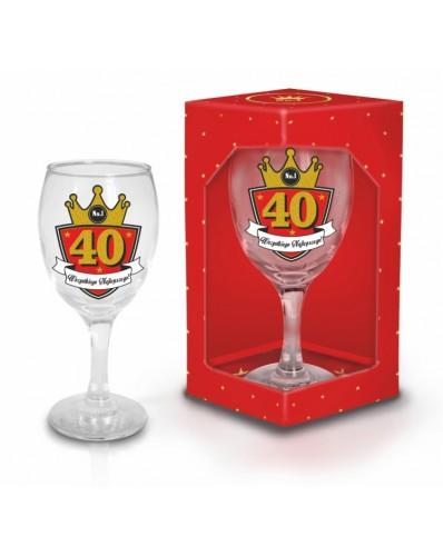 GOLD - kieliszek do wina 220ml - 40 urodziny