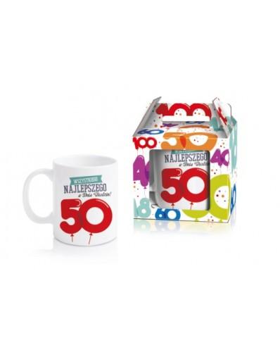BALONIKI - kubek 300ml - 50 urodziny