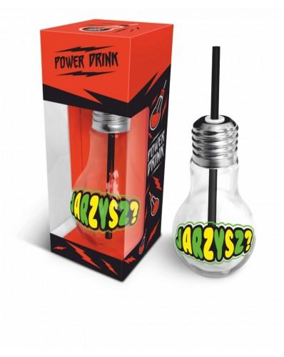 """POWER DRINK - szklanka żarówka 400ml """"Jarzysz?"""""""