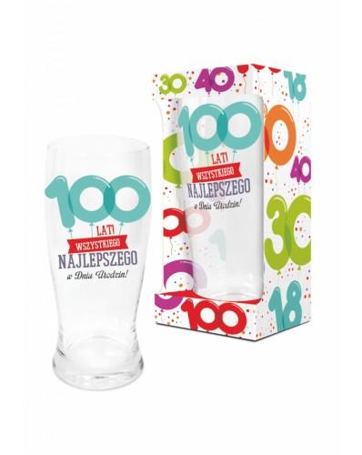 BALONIKI - szklanka do piwa 500ml - 100 lat