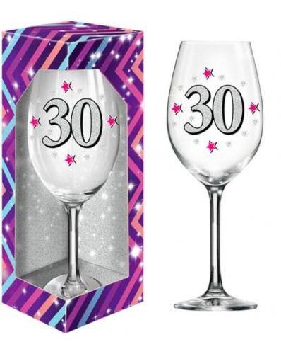 BROKAT XL kieliszek do wina 640ml - 30 urodziny