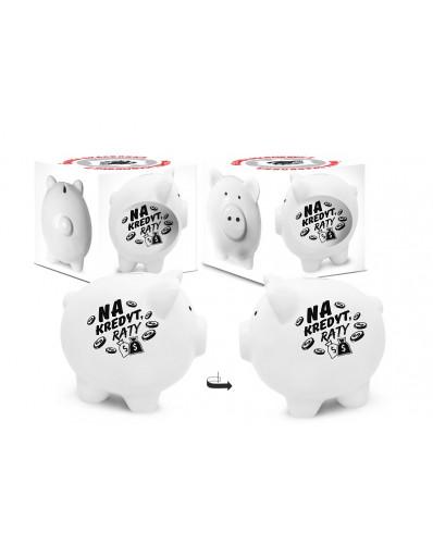 SKARBONKA - świnka (biała) - Na kredyt, raty