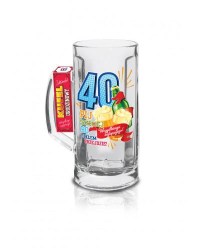 URODZINOWY LUZZZ - kufel Berna 500ml - 40