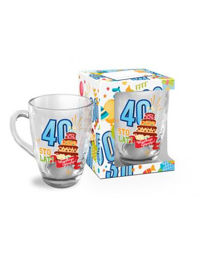 URODZINOWY LUZZZ - kubek szklany Baryłka 350ml - 40