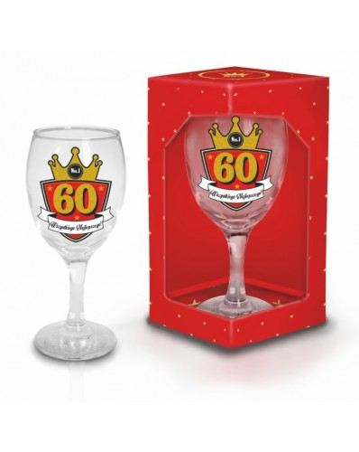 GOLD - kieliszek do wina 220ml - 60 urodziny