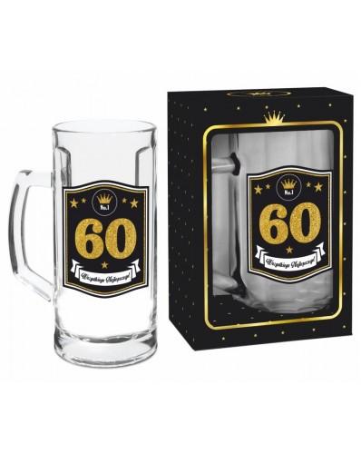 GOLD - kufel Berna 500ml - 60 urodziny
