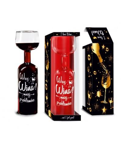 Butelko-kieliszek 750ml - Więcej wina