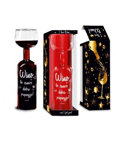 Butelko-kieliszek 750ml - Wino dobra propozycja
