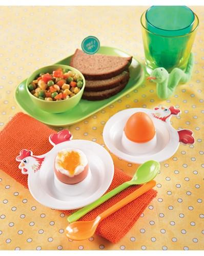 KITCHEN - zestaw 2 podstawek na jajka + solniczka