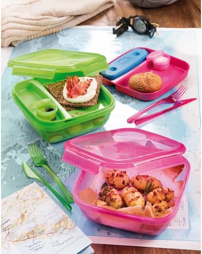 ENERGY - lunch box z wkładem chłodzącym 1,5L różowy