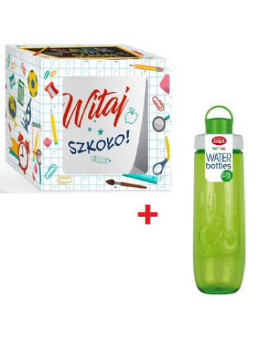 ! WITAJ SZKOŁO - kubek 300ml + butelka 0,7L zielona
