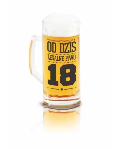 KUFEL Z NAPISEM 500ml - Od dziś legalne piwo 18