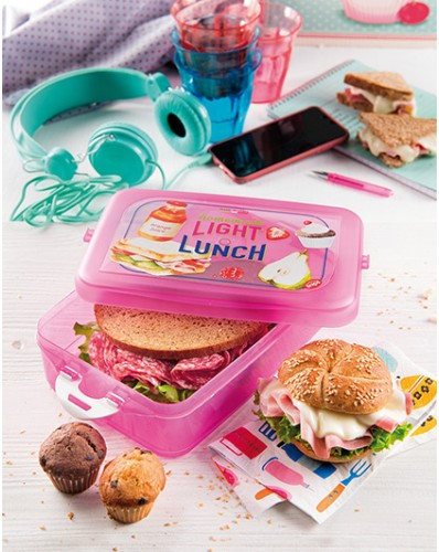 ENERGY - lunch box 1,33L różowy