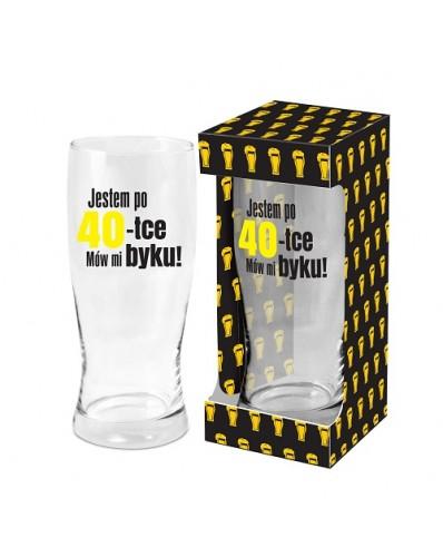 MĘSKI RESET - szklanka do piwa 500ml - 40