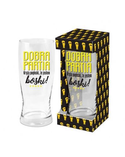 MĘSKI RESET - szklanka do piwa 500ml - Dobra partia