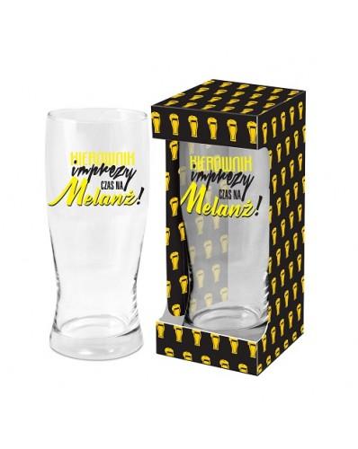 MĘSKI RESET - szklanka do piwa 500ml - Kierownik imprezy