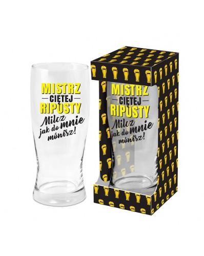 MĘSKI RESET - szklanka do piwa 500ml - Mistrz ciętej riposty