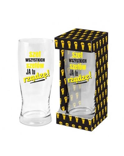 MĘSKI RESET - szklanka do piwa 500ml - Szef wszystkich szefów