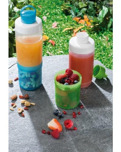 EAT&DRINK - butelka z pojemnikiem 0,4L + 0,25L niebieska