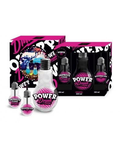 POWER MIX - butelka Żarówka 850ml i 2 szklanki Żarówki 100ml
