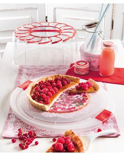 CAKE DESIGN - pojemnik na tort Ø 28cm czerwony
