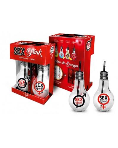 SEX DRINK - zestaw 2 szklanek żarówek 400ml