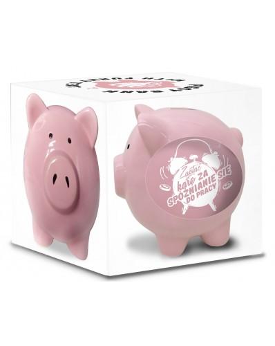 SKARBONKA świnka - ZAPŁAĆ KARĘ za spóźnianie się do pracy