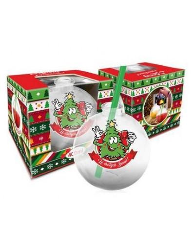 Szklanka świąteczne BOMBKA 400ml - Choinka