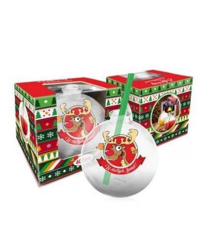 Szklanka świąteczne BOMBKA 400ml - Renifer