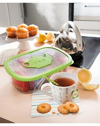 AROMA TEA - pojemnik do przechowywania herbaty 3L zielony