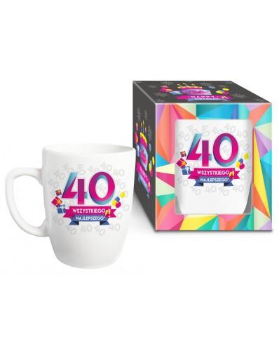 URODZINOWY XL - kubek Baryłka 750ml - 40 urodziny