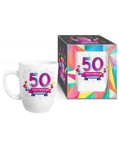 URODZINOWY XL - kubek Baryłka 750ml - 50 urodziny