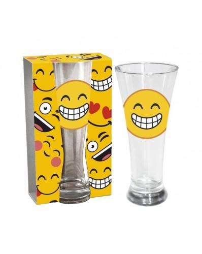 """EMOTKI - szklanka do piwa 300ml """"Szeroki uśmiech"""""""