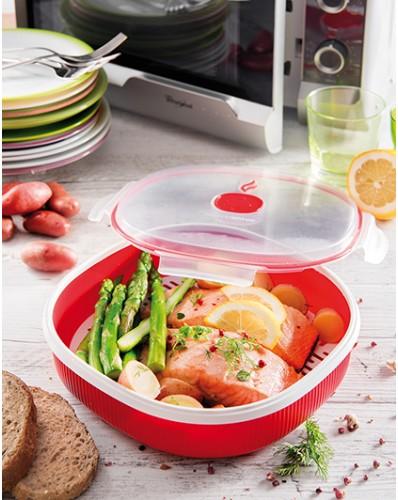 MICROWAVE - talerz do gotowania na parze 2L