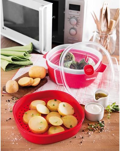 MICROWAVE - pojemnik do gotowania na parze 4L