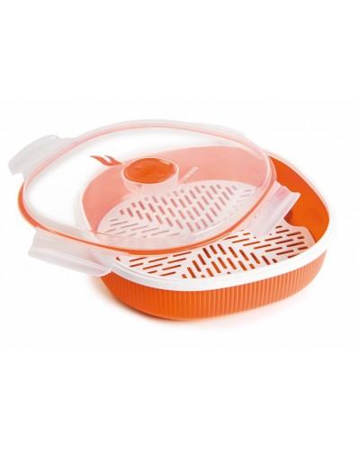 MICROWAVE - talerz do gotowania na parze 2L (Gift Box)