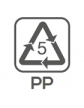 Materiał wykonania: polipropylen (pokrywka)