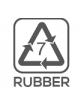 Materiał wykonania: guma (pokrywka)