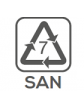 Materiał wykonania: SAN (pojemnik)